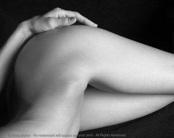 4652-CL Black & White Naked Hips Nude Woman Female Curves Sexy Nude Erotic Photography Studio Art Nude Print signed Chris Maher