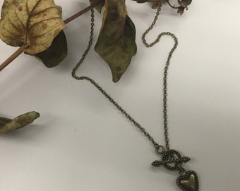 CA Heart Toggle Pendant Necklace
