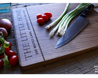 Personalized Cutting Board, Engraved Cutting Board, Personalized Wedding Gift, Housewarming Gift, Closing Gift