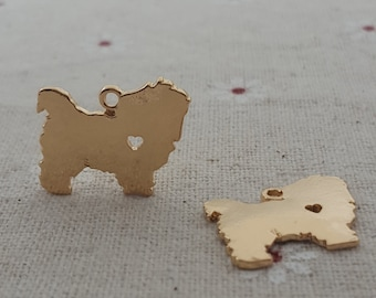 I heart my dog-chow chow Dog pet jewelry findings  cute dog charms 40 pcs-T1089jin