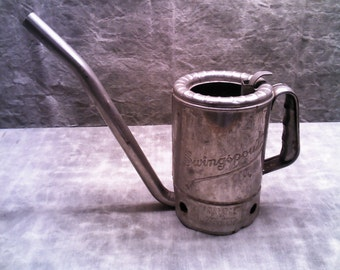 Chrome Plated Swingspout Half Gallon Oil Can