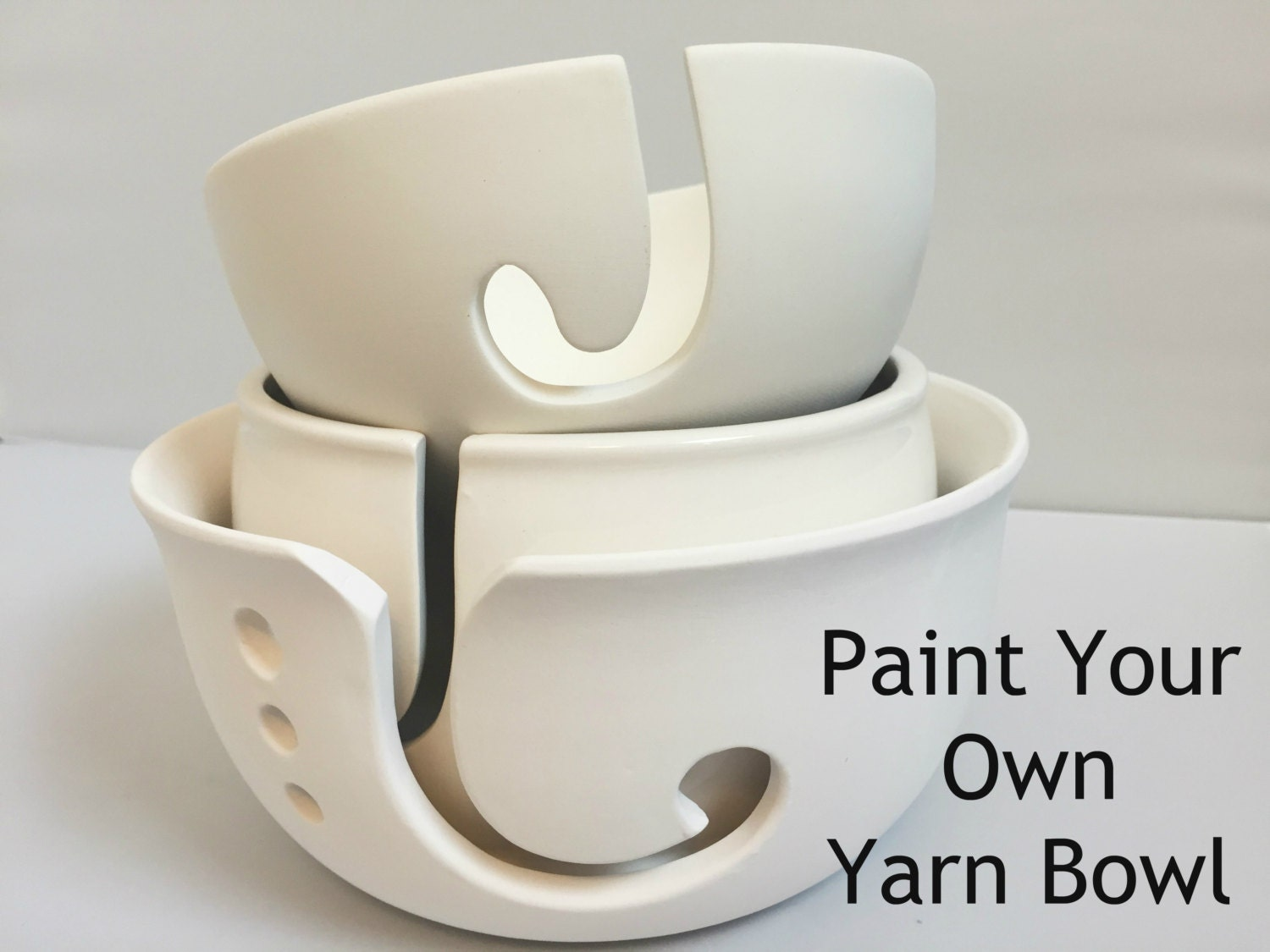 diy paint your own yarn bowl ceramic yarn bowl choose