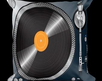 Vinyl Turntable Designer Throw Pillow