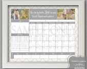 Digital Dry Erase Calendar - 16x20 Tan Damask Calendar Message Center (JPEG Digital File) - Instant Download - You Print - You Frame