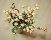 Natural Dry MINI Roses - Natural Color - Roses for Weddings-Luck-Love-Romance and all other Matters of the Heart- Pink Roses - Dried Flowers