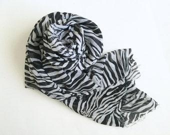 Zebra Print Chiffon Fabric