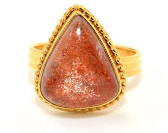 COA:NM Sunstone Sterling Silver Ring
