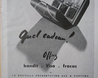 Original Vintage French Ad Robert Piguet Parfum 1949