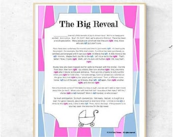 gender reveal pass the present baby shower game instant download ca 3