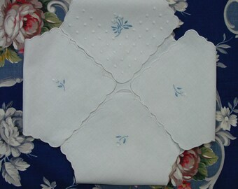 Nice Vintage Linen Hot Roll Basket Cover, Embroidery, Unused, 2 Available