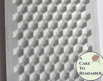 Hexagonal Sugar jewel mold, isomalt gem mold, mould for sugar gems for cake decorating