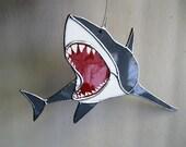 Sharkstainedo - Stained Glass Shark Suncatcher