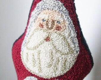 Primitive Punch Needle Belsnickle Santa