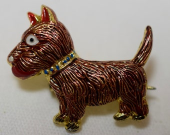 Vintage brooch, Scottie dog,coppers in color, dog, Scotty, brooch, pin,jewelry,vintage