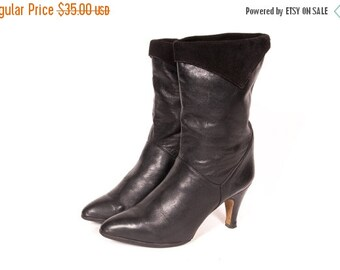 30% OFF Short 1980's High Heel Slouch Boot Size 9