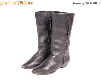 30% OFF Short  Black Boot Women's Size 6