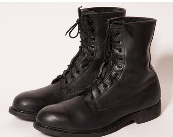 30% OFF Men's Black Combat Boots Size 11 .5 R