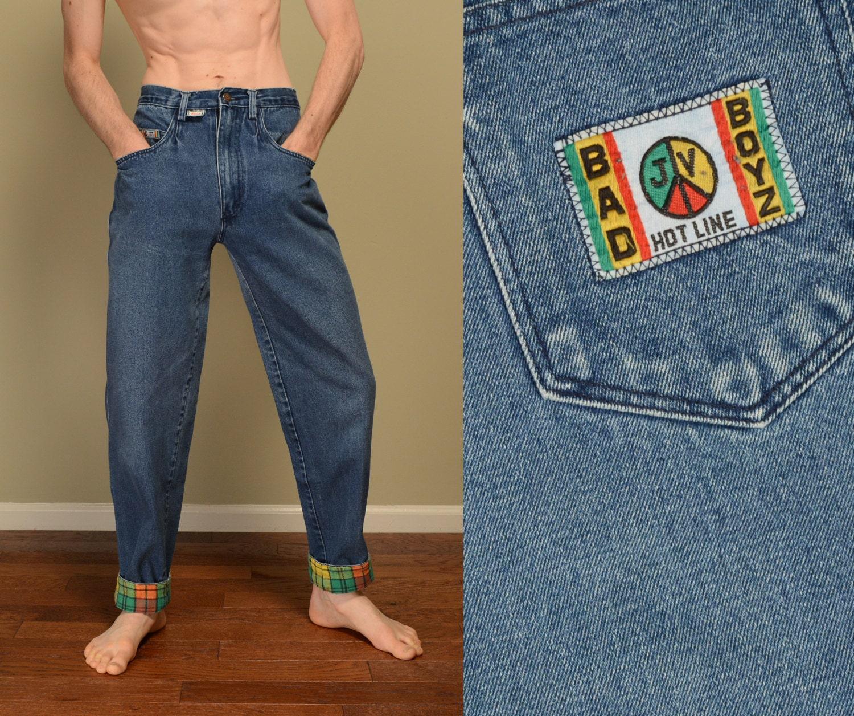 vintage 90s Bad Boyz jeans baggy hip hop street style 1990s