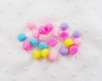 10pcs - Pastel Candy Bon Bons Mix Decoden Cabochon (15mm) CY10034