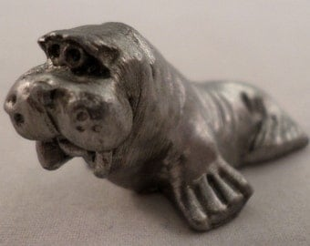 Pewter Collectible Figurine Animal Walrus Ocean Marine Life
