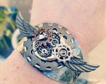 Metal steampunk cuff