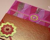Handmade Cash Envelope or Gift card holder with velcro closure- Set of 2, Wedding, Eid money, Baby Shower-Reserved for Navneet