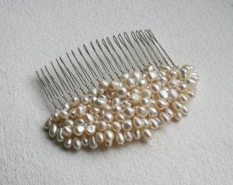 Lisette Hair Comb / Fresh Water Pearls / Bride Hair Accessory / Bridal / Wedding