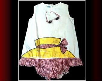 Vintage 1940s Romper// 50s Playsuit// Swimsuit// Viva Las Vegas// Pinup// Bombshell// Rockabilly