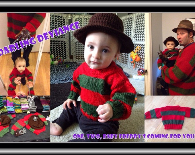 "Featured listing image: Baby ""Freddy Krueger"" Outfit 6-12 month size"