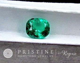 Colombian Emerald Cushion Shape for Custom Engagement Ring May Birthstone Natural Loose Gemstone