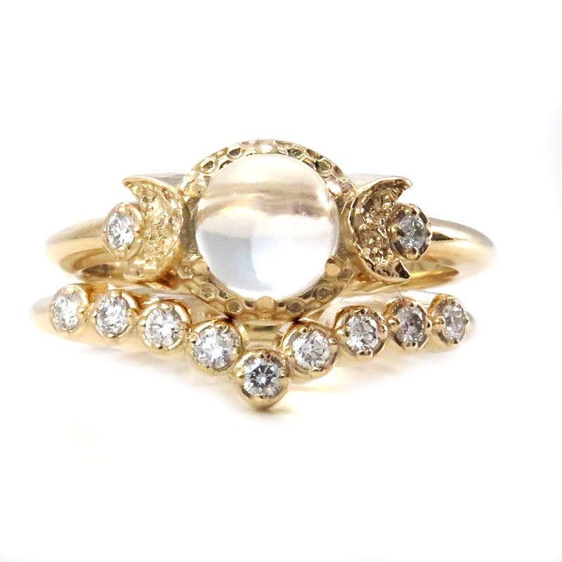 Diamond And Moonstone Engagement Ring Set Moon Phase Wedding. Forevermark Wedding Rings. 2 Stone Rings. Cake Engagement Rings. Native Wedding Rings. Soft Square Engagement Rings. Page Boy Rings. Black Stone Engagement Rings. Vampire Rings