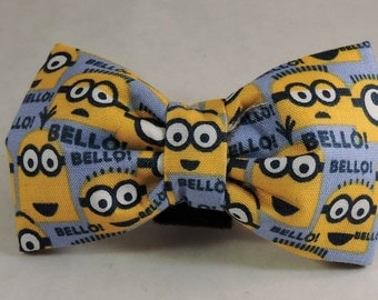 Dog Flower, Dog Bow Tie, Cat Flower, Cat Bow Tie - Minions
