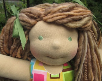 "RESERVED Custom Waldorf Boy Doll for Emily - 15"" Girl"
