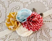 Mustard, Red and Blue Headband - Country Cowgirl