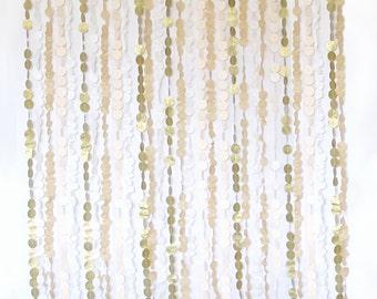 Backdrop - Tissue Garland - Wedding - 6 ft. W x 6 ft. L