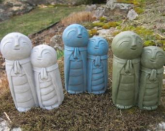 Jizo Statue, Concrete Statues Of Jizo's, Protectors Of Children, Jizo Figure, Garden Statue, Baby Shower Gift, Made In America Statues.