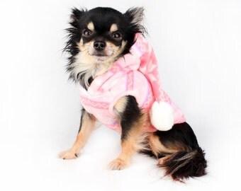 Dog Clothes holiday Snow flake Pom pom sleeveless Dog Hoodie Sweater