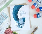 Mother and Baby Elephant Greeting Card - Mother's Day