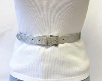 Shiny Silver Belt Size Medium