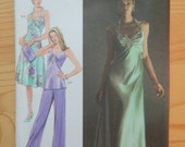 Jessica McClintock Halter Dress or Top & Pants Pattern Simplicity 4481 Sizes 6-12 Uncut Spanish/English