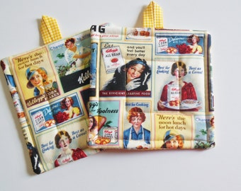 Retro Quilted Potholders