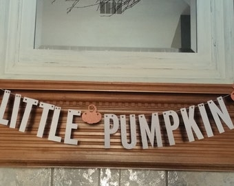 Little Pumpkin Banner // Fall Party Decorations // Birthday Party //  Pumpkin Banner // Baby Banner