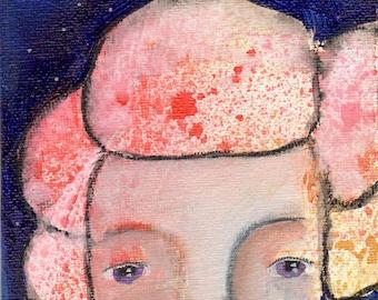 "Pure Joy, an original 4x6"" Nixie painting"