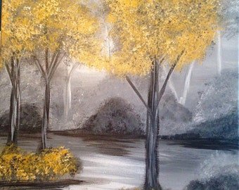 "SPRING SALE-Painting ""Misty Morning"""