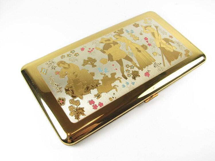 Vintage cigarette case wadsworth business card holder made for Vintage business card case