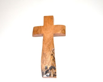 """Wood Cross for your Cross Wall Decor; Rustic TX Mesquite;Original Crooked Cross made in USA;5""""x9""""x1"""";Free Shipping USA; cc20-2033116"""