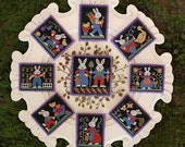 Bunnies Book No. 178 : Prairie Schooler counted cross stitch patterns Spring Easter bunny hare gardening hand embroidery