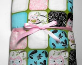 Pink Owls Fitted Crib Sheet for Crib or Toddler Bed