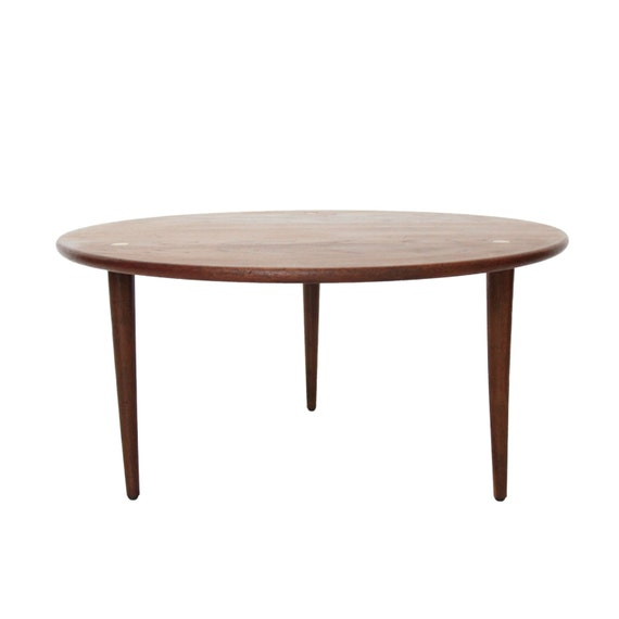 Vintage Mid Century Modern Round Coffee Table By DUX Made In Sweden