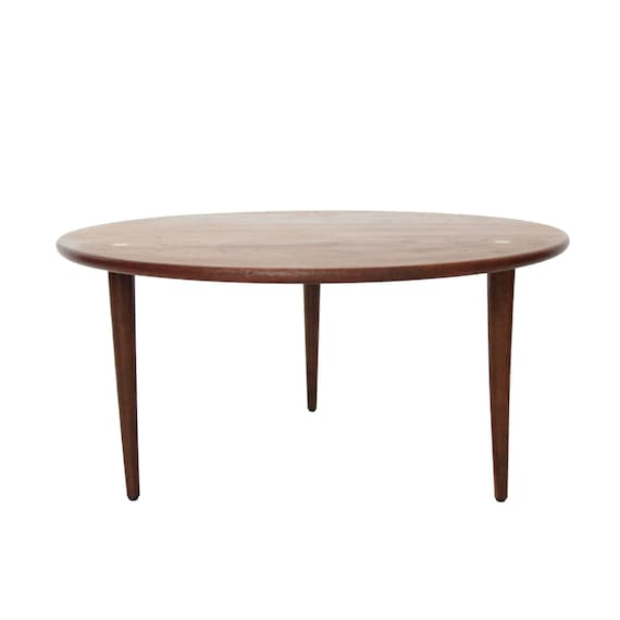 Vintage Mid Century Modern Round Coffee Table By DUX By